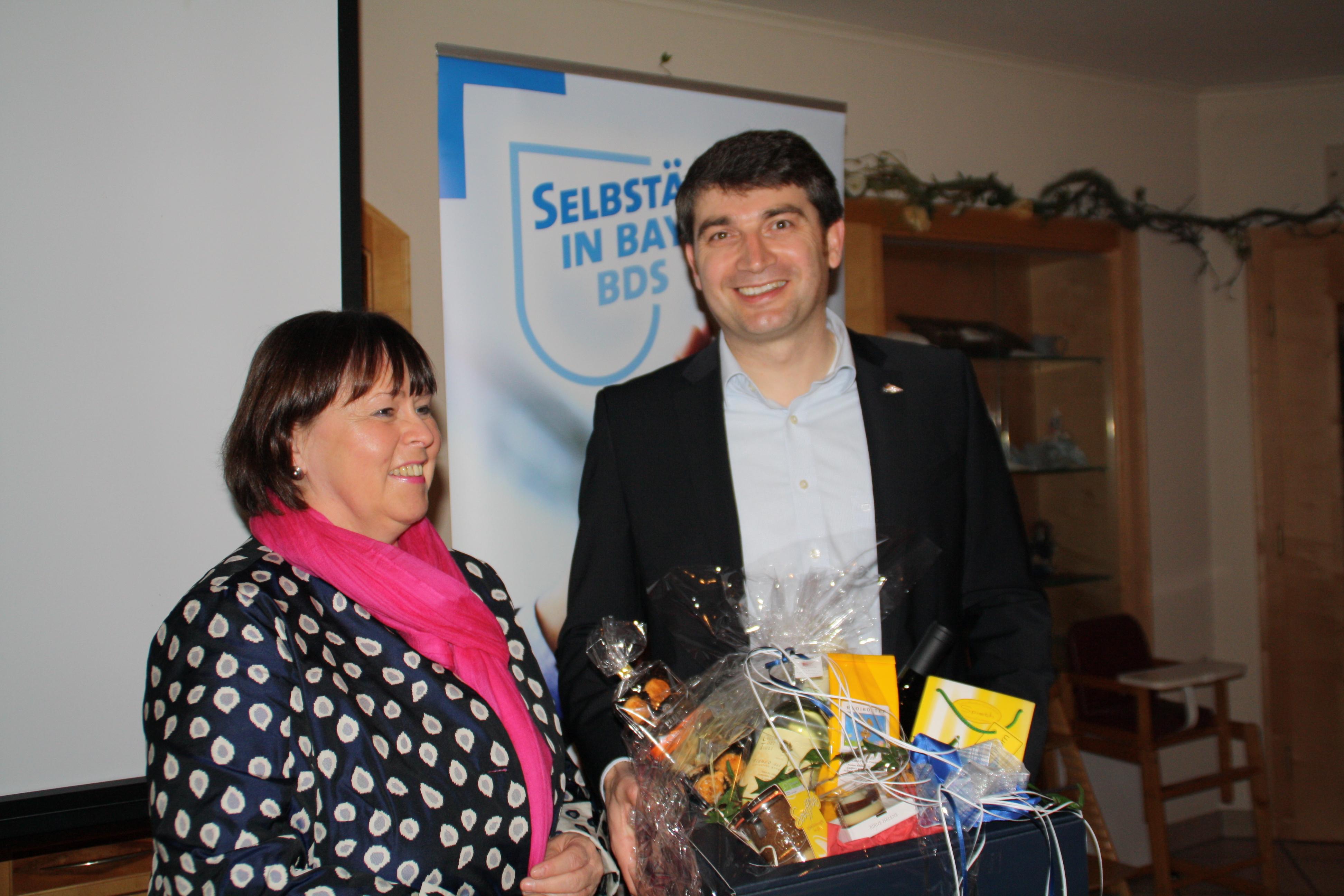 Geschenk BDS an Gerhard Biber