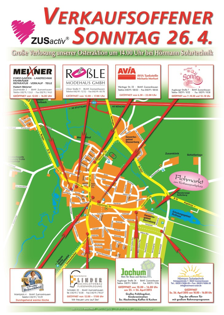Teilnehmende Geschäfte am verkaufsoffenen Sonntag 26.04.2015